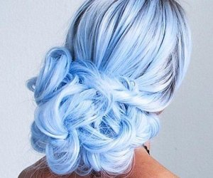 beautiful, blue hair, and girl image