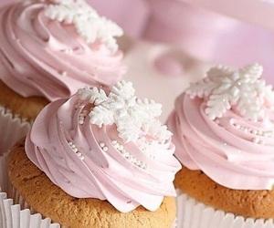 christmas, snowflake, and cupcakes image