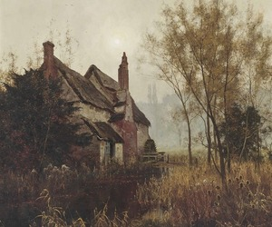 autumn, painting, and edward wilkins waite image