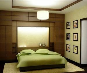 bathroom, green, and sheets image
