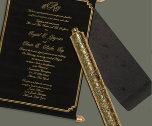 scroll invitations, scroll wedding cards, and scroll cards image