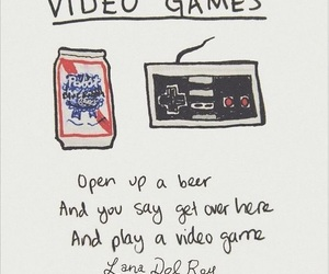 lana del rey, video games, and born to die image