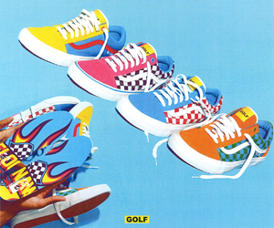 blue, checkers, and shoes image