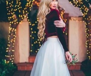 outfit, christmas, and skirt image