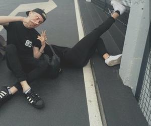 black, adidas, and grunge image
