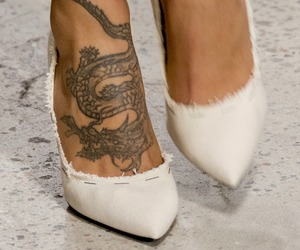 tattoo, heels, and shoes image
