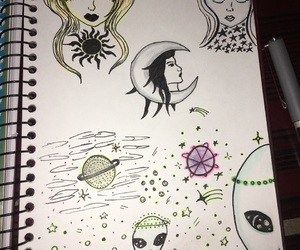 aliens, art, and drawing image