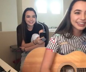 girl, girls, and guitar image