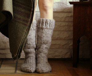 socks, winter, and cozy image
