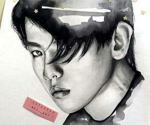 art, drawing, and kpop image
