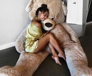 girl, alexis ren, and teddy bear image