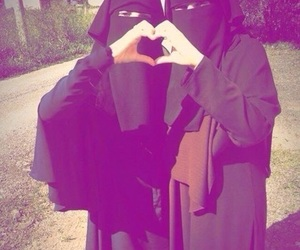 best friend, muslim, and niqab image