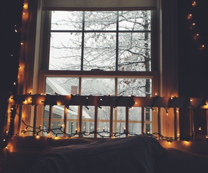 light, winter, and room image