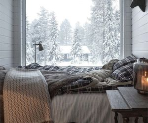 home, snow, and winter image