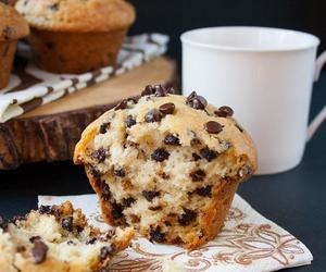 chocolate, muffins, and coffee image