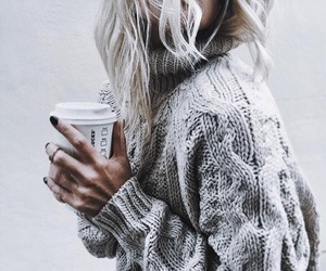 coffee, girl, and winter image