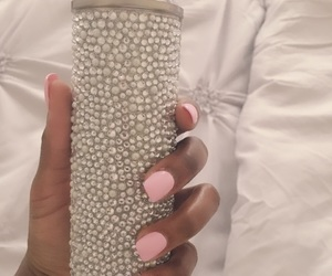 diamonds, glamour, and pink nails image