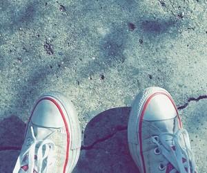 autumn, converse, and red image