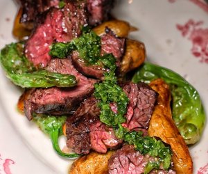 basil, beef, and grill image