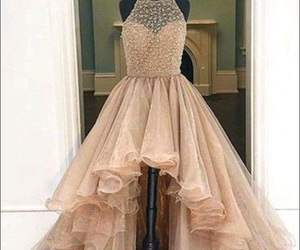 dress, Prom, and makeup image