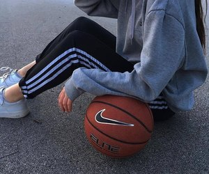 Basketball, girl, and nike image