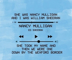 Lyrics, ed sheeran, and music image