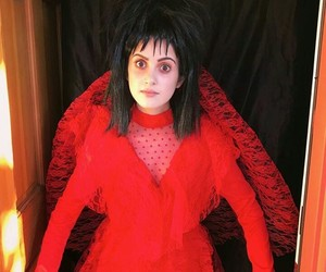 beetlejuice, costume, and Halloween image