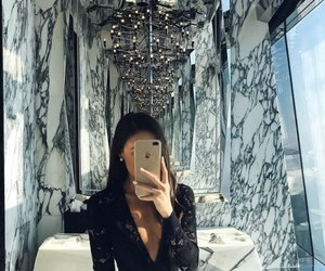 girl, marble, and luxury image