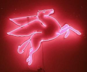 neon, unicorn, and pink image