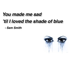 blue, crying, and eyes image