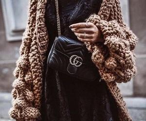 cardigan, fashion, and whool image
