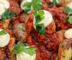 potato, tapas, and salsa image