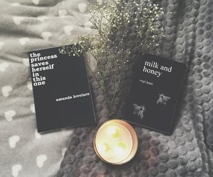 black, books, and candle image