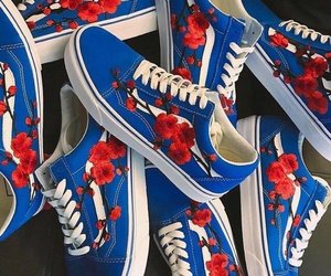 blue, shoes, and vans image