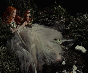 faerie, wild, and mirror image