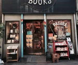 book, bookstore, and vintage image