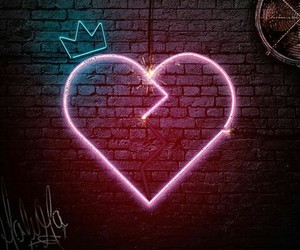 heart, crown, and light image