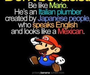 mario, mexican, and racist image