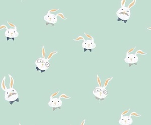 background, bunnies, and wallpaper image