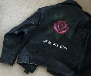 grunge, rose, and jacket image