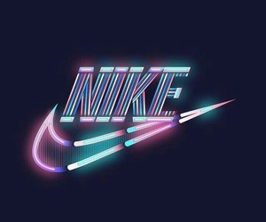 nike, neon, and blue image