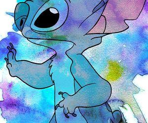 disney, stitch, and blue image