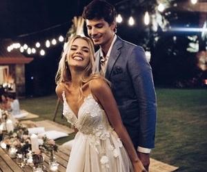 wedding, couple, and wedding dress image