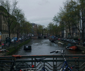 amsterdam, bike, and canals image