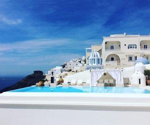 beautiful, Greece, and hotel image