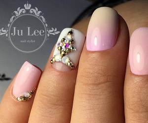 beauty, nails, and pink image