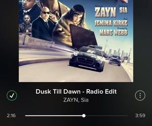 music, dusk till dawn, and love image