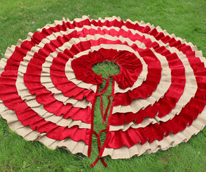 etsy, holiday tree skirt, and red tree skirt image