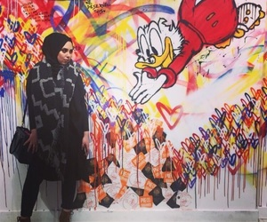 art, fashion, and hijab image