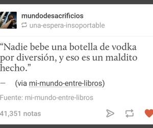 frases, vodka, and sad image